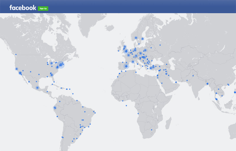 facebook live streaming map